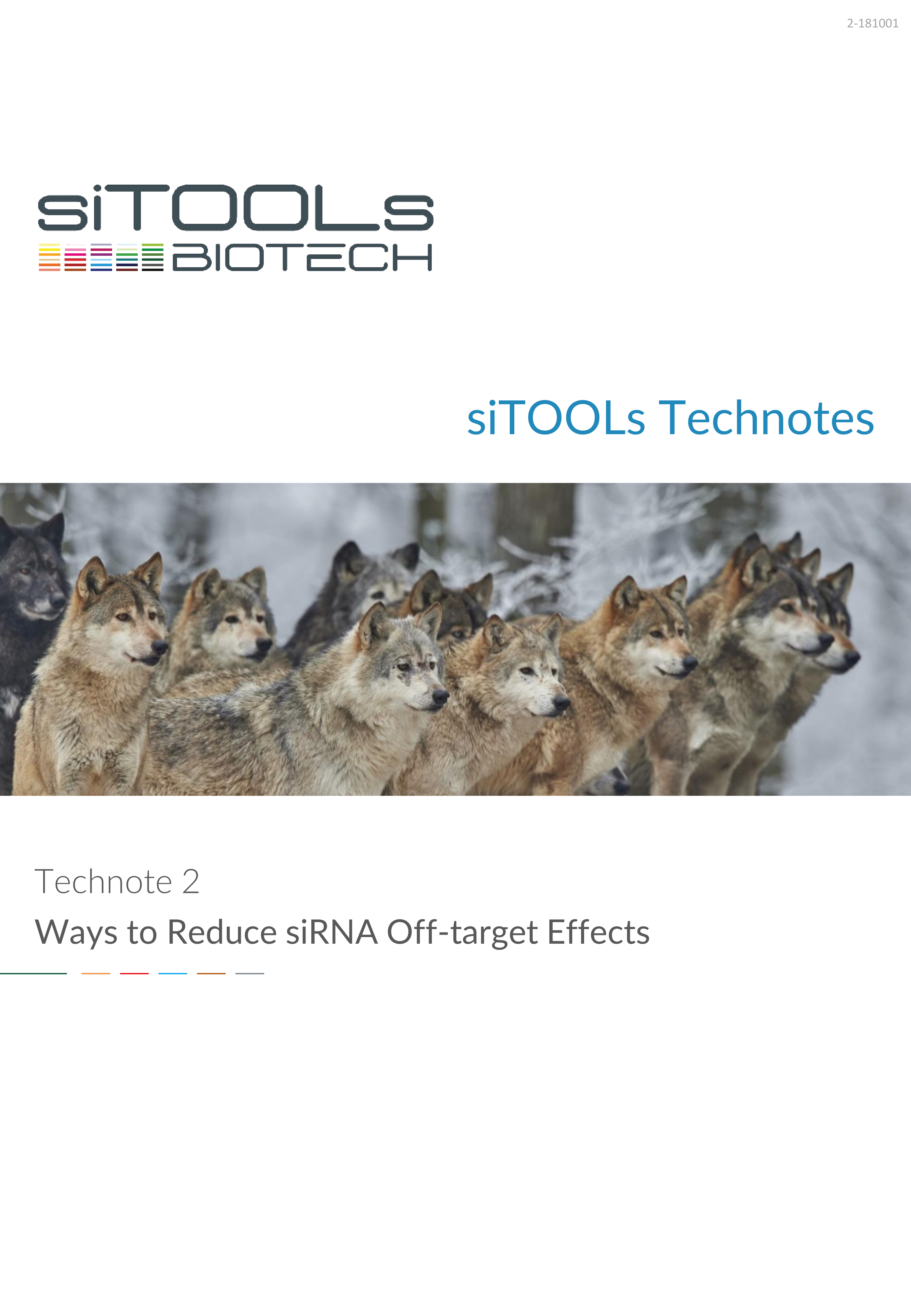 Technote 2-181001 - Ways to Reduce siRNA Off-target Effects